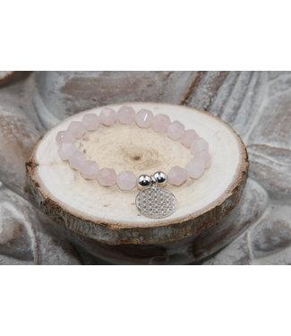 Luma Creation Bracelet QUARTZ ROSE facetté 10mm