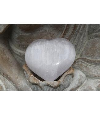 Coeur de SELENITE 8cm