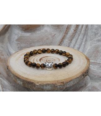 "Luma Creation Bracelet ""PROTECTION"" oeil de tigre 6mm"