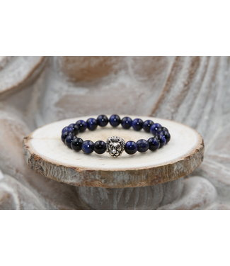 Luma Creation Bracelet ENFANT OEIL DE FAUCON & LAPIS LAZULI 8mm