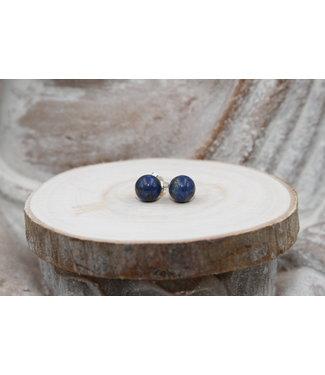 Boucles d'oreilles boules Lapis Lazuli 8mm