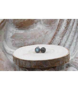 Boucles d'oreilles boules Labradorite 8mm