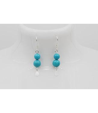 Luma Creation Boucles d'oreilles pierre Magnesite Turquoise