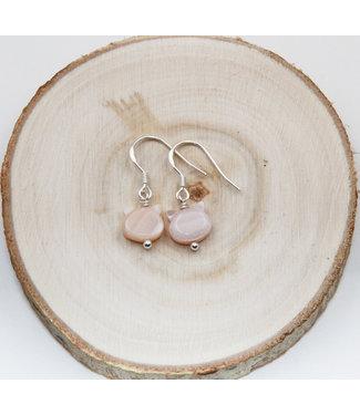 Boucles d'oreilles Chat Nacre Rose