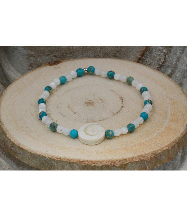 Bracelet OEIL DE SAINTE LUCIE Blue