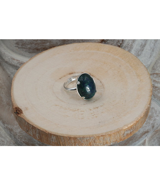 Bague AZURITE-MALACHITE 18x13mm