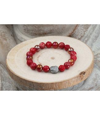 """Bracelet """"RED"""" 8 mm"""
