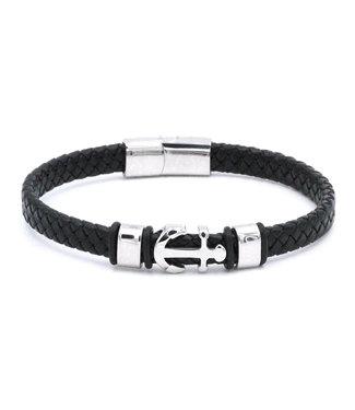 Bracelet homme cuir Ancre