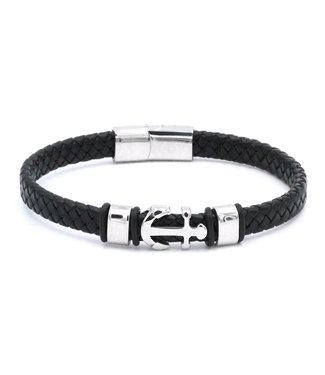 Fiell Bracelet homme cuir Ancre