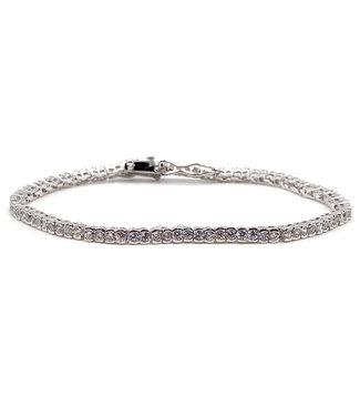 Fiell Bracelet Femme Strass Zircon 2 mm