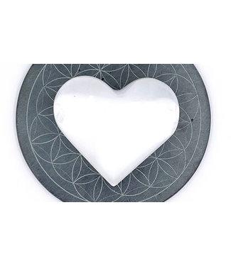 Coeur de SELENITE entre 4 et 9 cm
