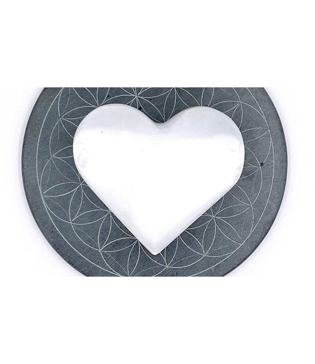Coeur de SELENITE 6cm