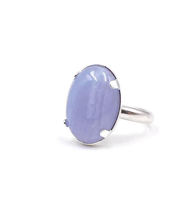 Bague CALCEDOINE bleue