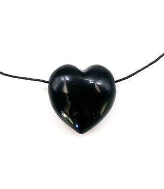 Pendentif Coeur Obsidienne Noire