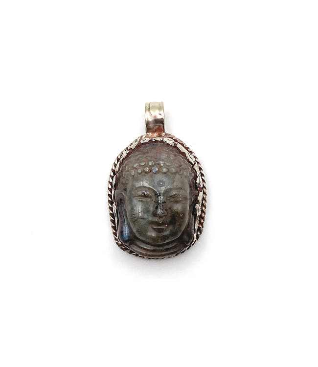 Pendentif Sculpté Bouddha Labradorite