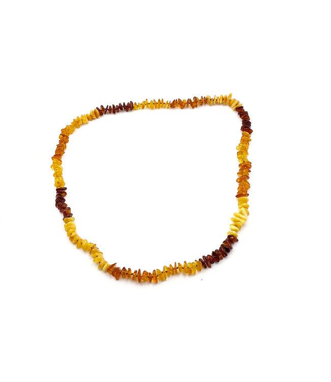 Collier Ambre Multicolore 65 cm