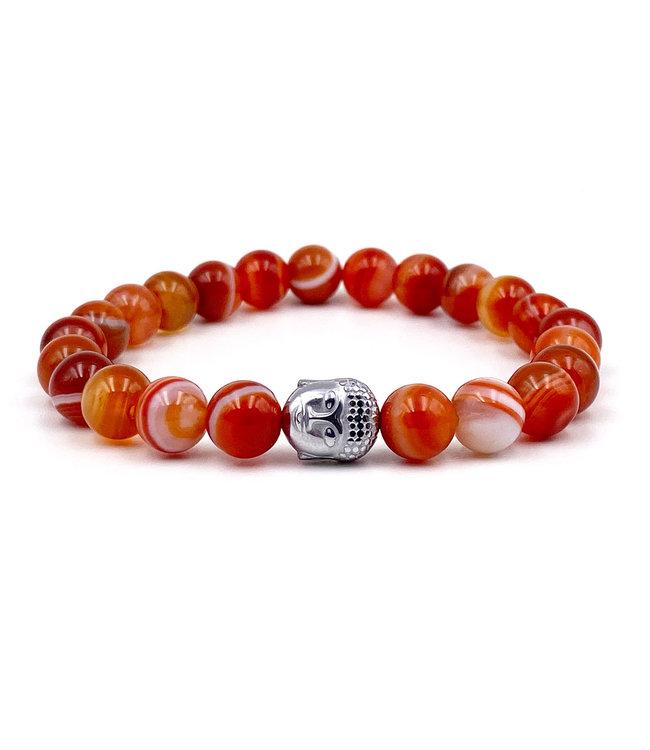 Bracelet Agate orange - enfant