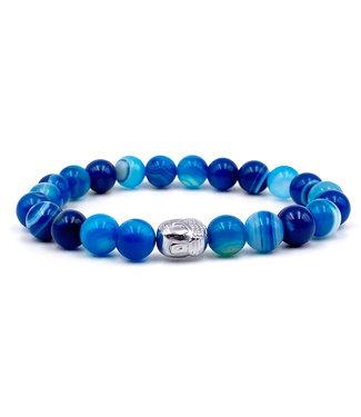 Bracelet Agate Bleu - enfant