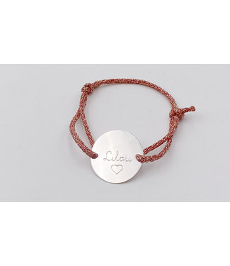 Bracelet médaille à gravé