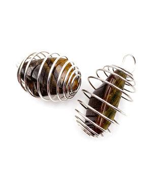 Cage spirale pour pierre roulée