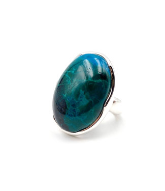 Bague Chrysocolle ovale