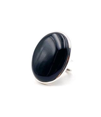 Bague Onyx noire