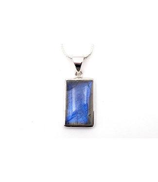 Pendentif Labradorite Rectangle bleu