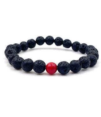 """Bracelet """"LUI"""" pierre de lave, collection MY LOVE"""