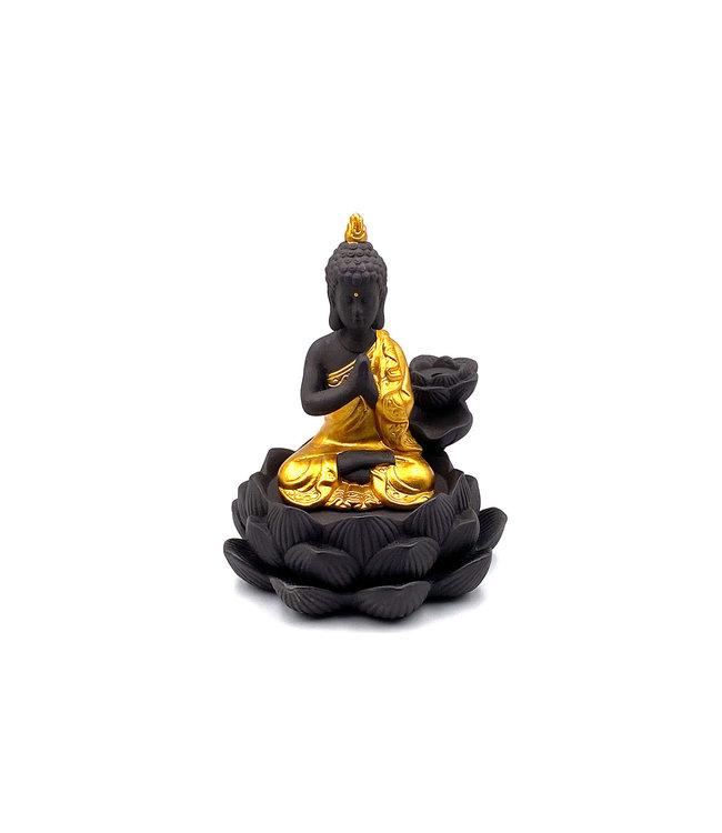 Fontaine d'encens Bouddha Doré