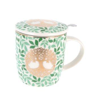 Mug/tasse à thé avec infuseur - Arbre de vie