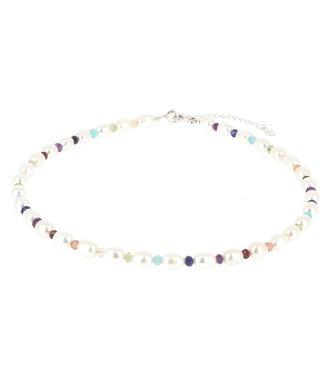 Collier 7 chakras Perles naturelles