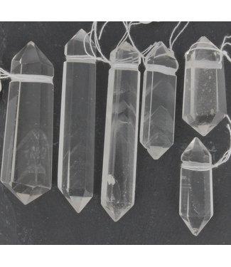 Pendentif Cristal de Roche  Double Pointes