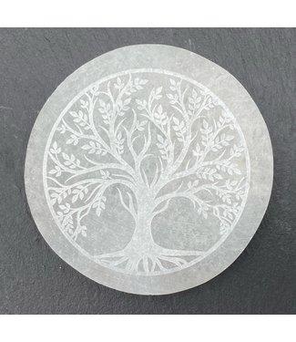 Selenite avec arbre de vie
