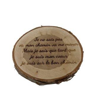 Rondin de bois personnalisable