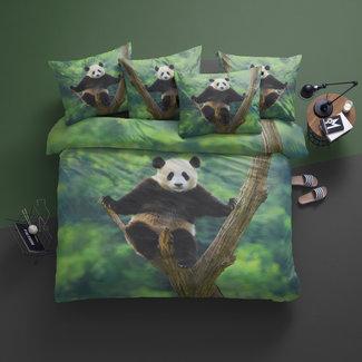 Damai Dekbedovertrek Damai Panda-Katoen -Green
