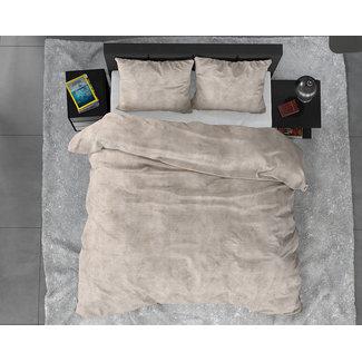 Sleeptime Dekbedovertrek Sleeptime FL Twin Washed Cotton Taupe Flanel