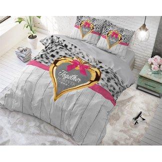 """Sleeptime """"2 halen = 1 betalen"""" Dekbedovertrek Sleeptime Together Forever Grey Katoen Blended"""
