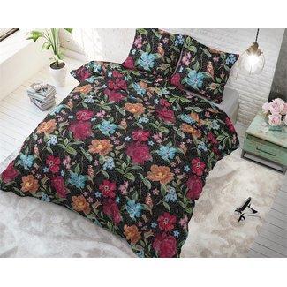 Sleeptime Dekbedovertrek Sleeptime Kabuki Roses Black Katoen Blended