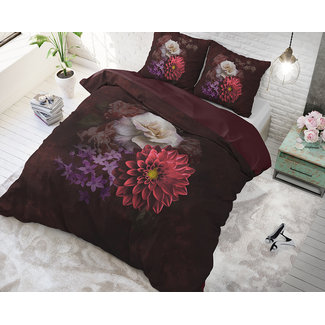 Sleeptime Dekbedovertrek Sleeptime Elegant Flower Bordeaux Katoen Blended