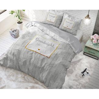 """Sleeptime """"2 halen = 1 betalen"""" Dekbedovertrek Sleeptime Marble Goodnight 3 Gold Katoen Blended"""