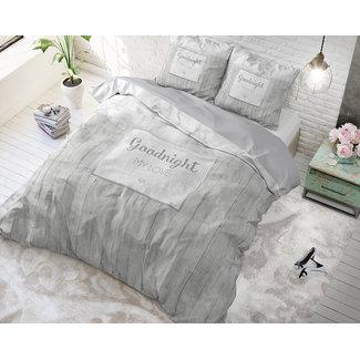 """Sleeptime """"2 halen = 1 betalen"""" Dekbedovertrek Sleeptime Marble Goodnight 3 Silver Katoen Blended"""