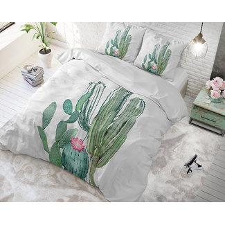 "Sleeptime ""2 halen = 1 betalen"" Dekbedovertrek Sleeptime Cactus Marble Green Katoen Blended"