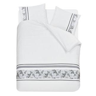 "Fancy Embroidery ""2 halen = 1 betalen"" Dekbedovertrek Fancy Embroidery Sabra White Micropercal"