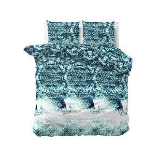 "Sleeptime ""2 halen = 1 betalen"" Dekbedovertrek Sleeptime Mara Turquoise Katoen Blended"