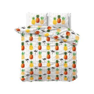Sleeptime Dekbedovertrek Sleeptime Pineapple White Katoen Blended