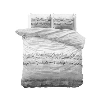 Sleeptime Dekbedovertrek Sleeptime Home Sleep Grey Katoen Blended