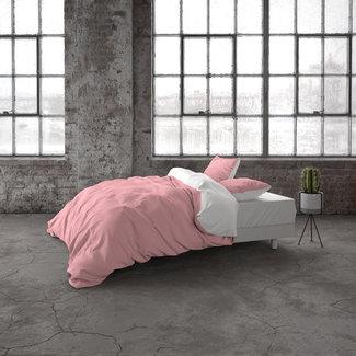 "Dreamhouse ""2 halen = 1 betalen"" Dekbedovertrek Two Tone Pink/White Katoen (Ranforce)"