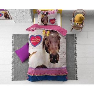 "Dreamhouse ""2 halen = 1 betalen"" Dekbedovertrek Dreamhouse Love Horse Pink Katoen"
