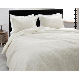 "Sleeptime ""2 halen = 1 betalen"" Dekbedovertrek Sleeptime Bedsprei Clara Cream Micropercal"