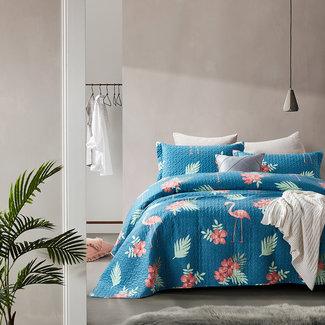 Dreamhouse Dreamhouse Bedsprei Flamingo Blue Micropercal